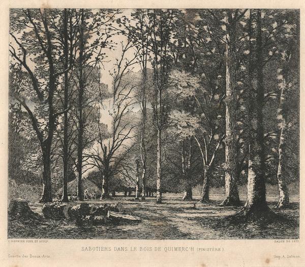 Camille BERNIER (Francia, 1823 – 1902) – SABOTIERS DANS LE BOIS DE QUIMERC'H