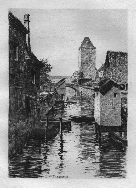 Albert KOERTTGÉ (Francia, 1861 – 1950) – BRAS DE L'ILL, A' STRASBOUR