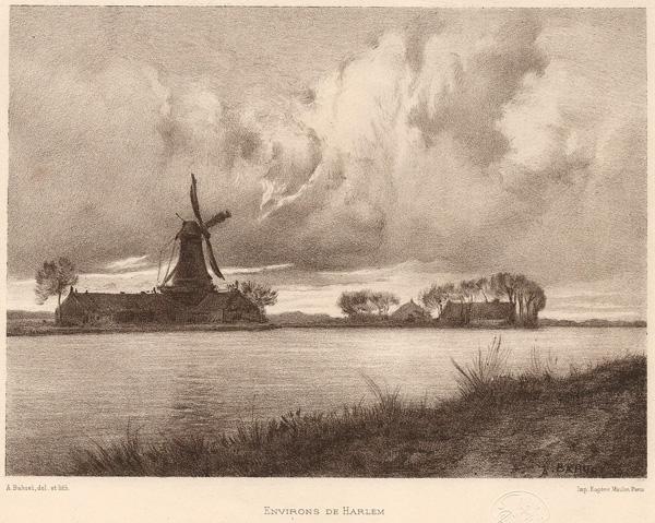 Alfred-Louis BAHUET (Francia, 1862 – 1910) – ENVIRONS D'HARLEM
