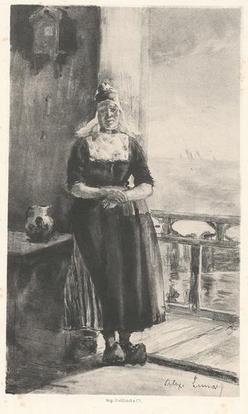 Alexandre LUNOIS (Francia, 1863 – 1916) – AU BORD DU ZUIDERZEE