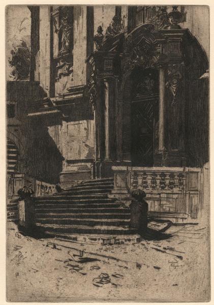John VONDROUS (Boemia, 1884 – 1970) – PORTAL DER St. NEPOMUK-KIRCHE AUF DEM HRADSCHIN (1911)