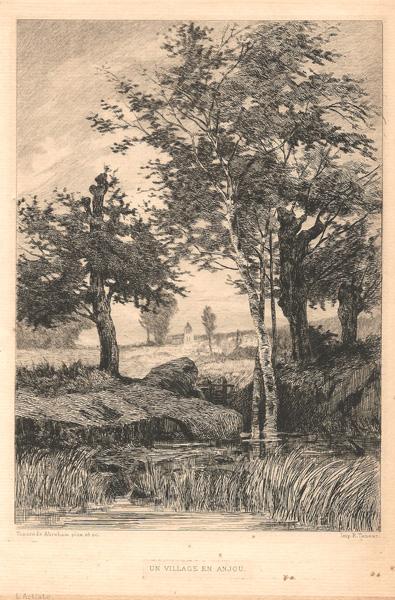 Tancrède ABRAHAM (Francia, 1836 – 1895) – UN VILLAGE EN ANJOU
