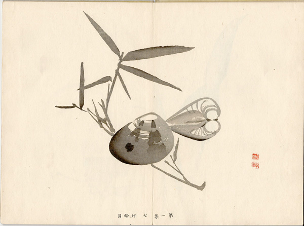 Kawabata GYOKUSHO (Giappone, 1842 – 1913) – VONGOLE E BAMBOO