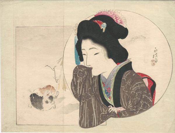 Tomioka EISEN (Giappone, 1864 – 1905) – MATTINO NEVOSO (1904)