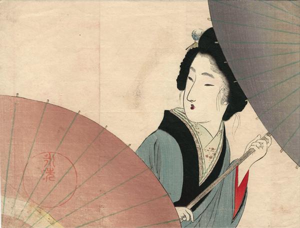 Tomioka EISEN (Giappone, 1864 – 1905) – PIOGGIA DI INIZIO ESTATE (1902)