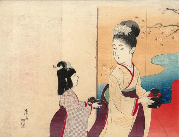 Tomioka EISEN (Giappone, 1864 – 1905) – LA FESTA DELLE BAMBOLE (1903)