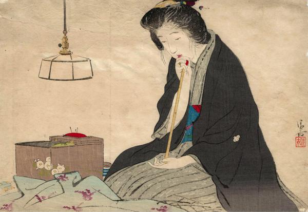 Koburagi KIYOKATA (Giappone, 1878-1972) – LUNGA NOTTE (1910)