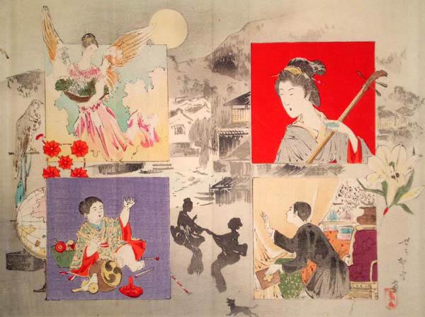 Mishima SHOSO (1856 – 1928) – SCENA NOTTURNA
