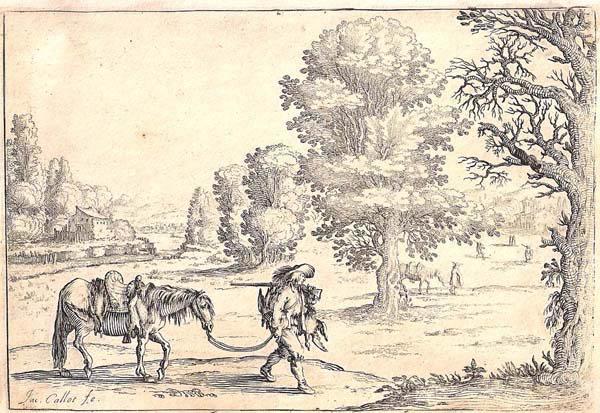 Ercole BAZZICALUVA (Pisa o Firenze, c.a 1610 – dopo il 1638) – SCENA DI CACCIA