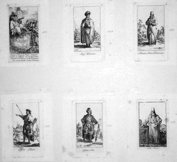 Jean-Baptiste LE PRINCE (Francia, 1734 – 1781) – HABILLEMENTS DE DIVERSES NATIONS (1765)