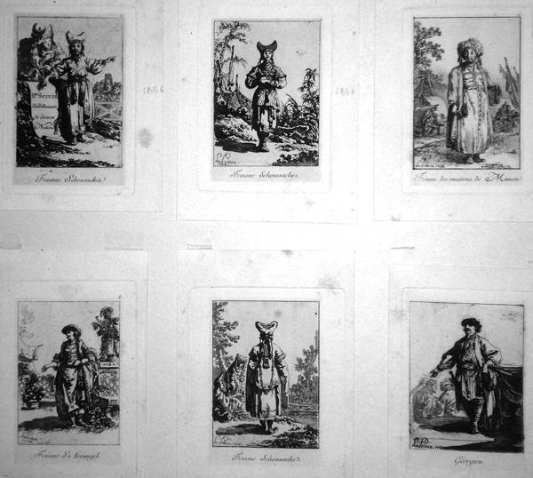 Jean-Baptiste LE PRINCE (Francia, 1734 – 1781) – DEUXIEME SUITE DE HABILLEMMENTS DE DIVERSES NATIONS (1768)