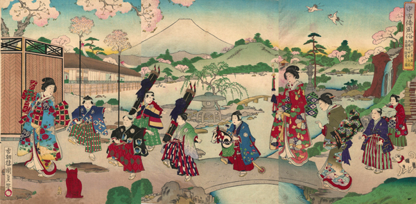 Utagawa KUNISADA II (Giappone, 1828 – 1880) – TAKECHIYO FIGLIO DI HIDETADA IL SECONDO SHOGUN TOKUGAWA (1889)
