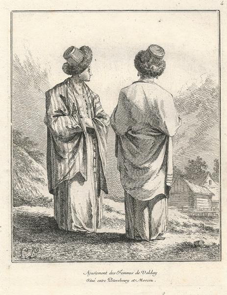 Jean-Baptiste LE PRINCE (Francia, 1734 – 1781) – ADJUSTEMENT DE FEMMES DE VALDAY