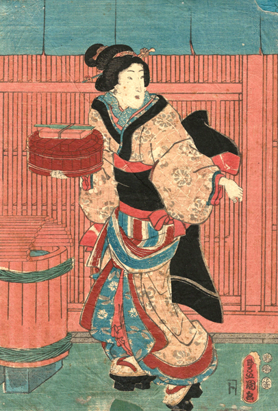 Utagawa KUNISADA (Giappone, 1786 – 1864) – PREPARAZIONE DEL BAGNO
