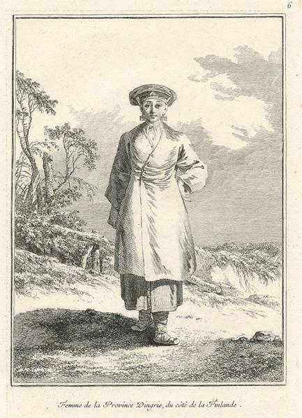 Jean-Baptiste LE PRINCE (Francia, 1734 – 1781) – FEMME DE LA PROVINCE DINGRIE