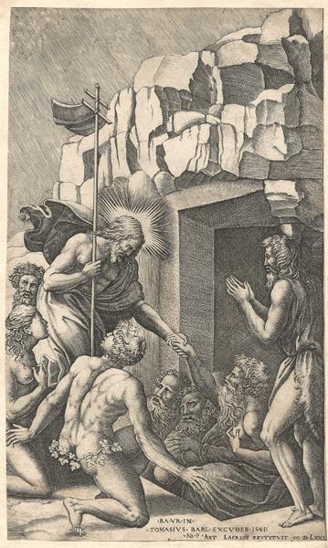 Nicolas BEATRIZET (Francia, 1515 circa-1566) – CRISTO NEL LIMBO