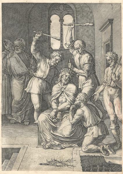 Cornelis CORT (Olanda, 1533 circa – 1578 circa) – INCORONAZIONE DI SPINE