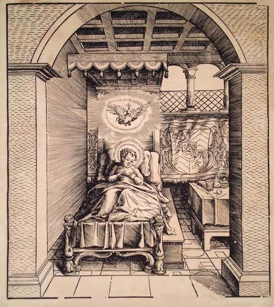 Leonhard BECK (Baviera, circa 1480 – 1542) – UN SANTO BAMBINO