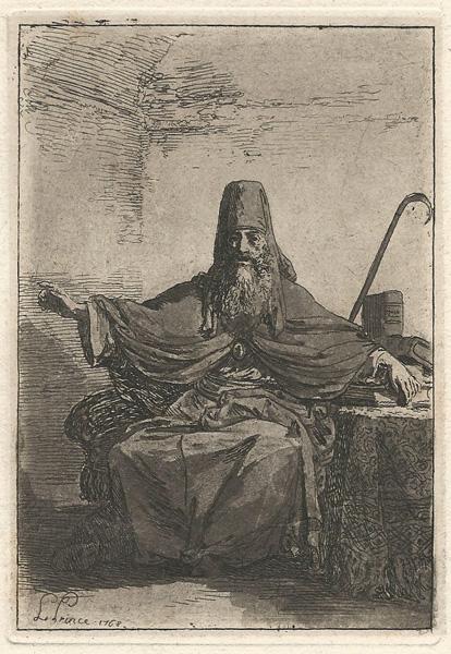Jean-Baptiste LE PRINCE (Francia, 1734 – 1781) – COSTUME MASCHILE (1768)