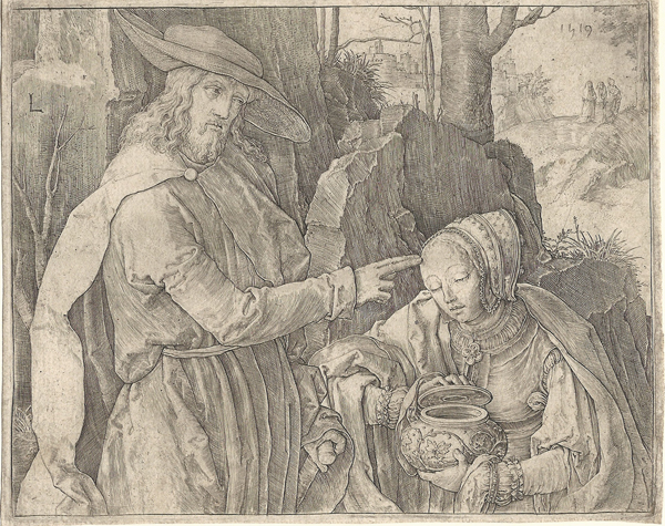 Luca di LEIDA (Olanda, 1494 – 1533) – GESU' APPARE A MARIA MADDALENA (1519)