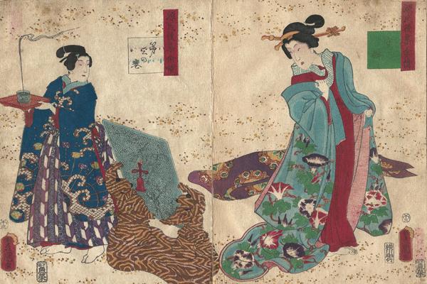 Utagawa KUNISADA (Giappone, 1786 – 1864) – UTSUSEMI (1858)