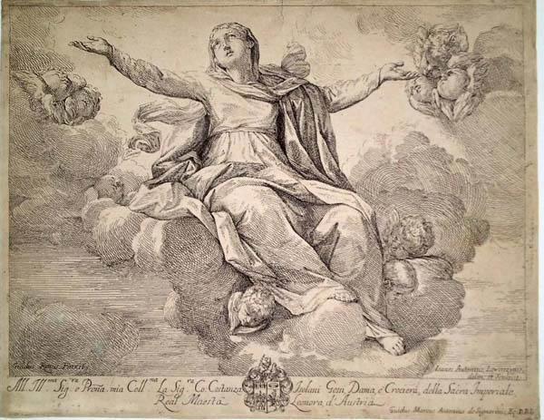 Giovanni Antonio LORENZINI (Bologna, 1665 – 1740) – LA VERGINE IN CIELO da Guido Reni