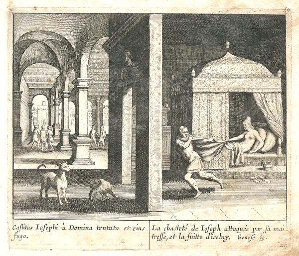 Ian LUYKEN (Olanda, 1649 – 1712) – GIUSEPPE E LA MOGLIE DI PUTIFARRE