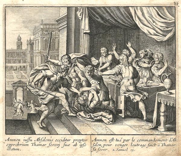 Ian LUYKEN (Olanda, 1649 – 1712) – AMMONE UCCISO PER VENDICARE TAMAR