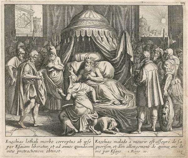 Ian LUYKEN (Olanda, 1649 – 1712) – ESAIA PROLUNGA LA VITA DI EZECHIAS