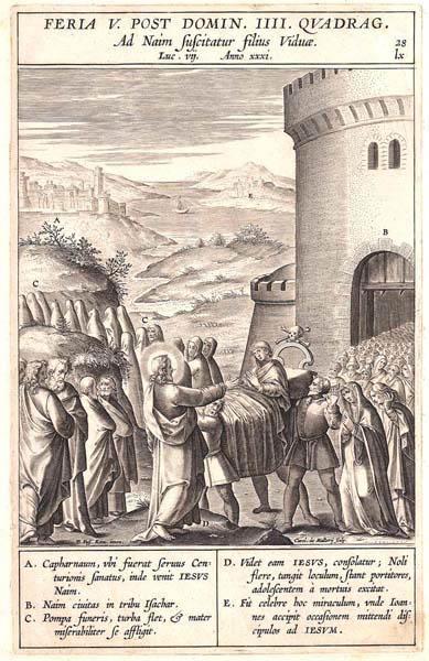 Karel Van MALLERY (Fiandre, 1571 – dopo il 1631) – GESÙ RESUSCITA IL FIGLIO DI UNA VEDOVA