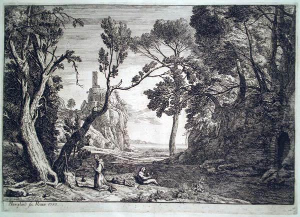 Adrien MANGLARD (Francia, 1695 – 1760) – LES PERES DU DESERT (1753)