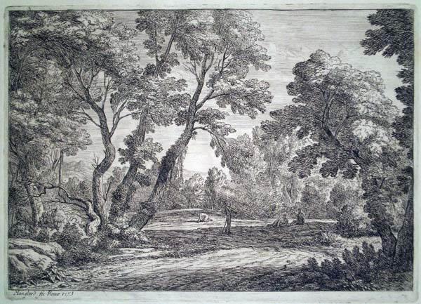 Adrien MANGLARD (Francia, 1695 – 1760) – INTERIEUR DE FORET (1753)
