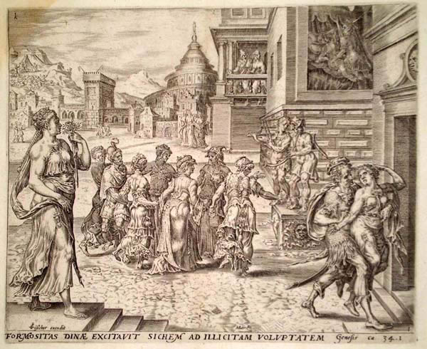 Hermann Jansz MULLER (Fiandre, c.a 1540 – 1617) – DIANA RAPITA DA SICHEM da Heemskerck
