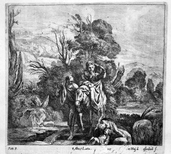 Jan Van OSSENBEECK (Olanda, c.a 1624 – 1674) – FUGA IN EGITTO