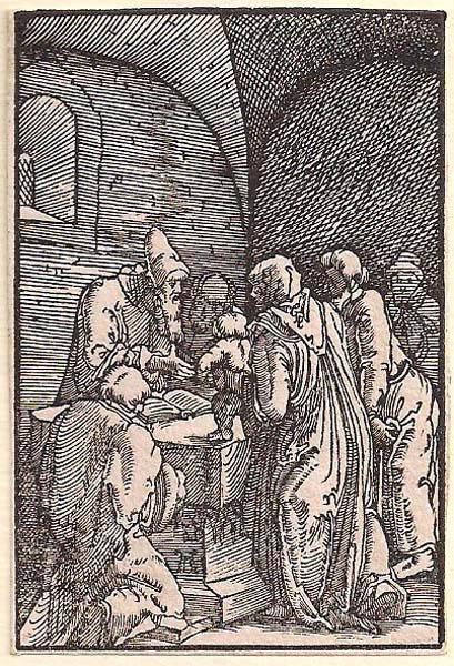 Albrecht ALTDORFER (Baviera, c.a 1480 – 1538) -LA PRESENTAZIONE AL TEMPIO