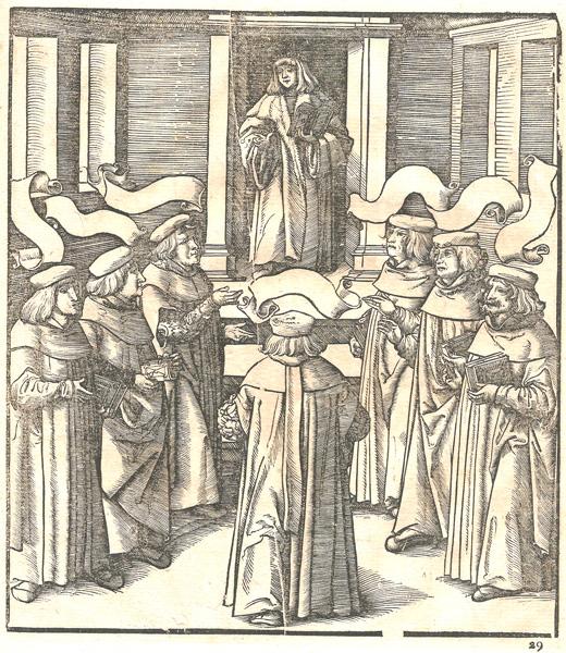 Leonhard BECK (Baviera, circa 1480 – 1542) – IL RE BIANCO STUDIA LE SETTE ARTI LIBERALI