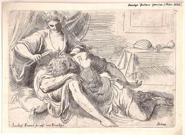 Jacopo NEGRETTI (Venezia, 1544 – 1628) – SANSONE E DALILA