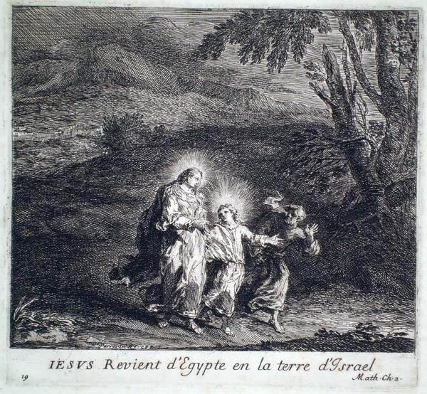 Joseph PARROCEL (Francia, 1646 – 1704) – IESUS REVIENT D'EGYPTE EN LA TERRE D'ISRAEL
