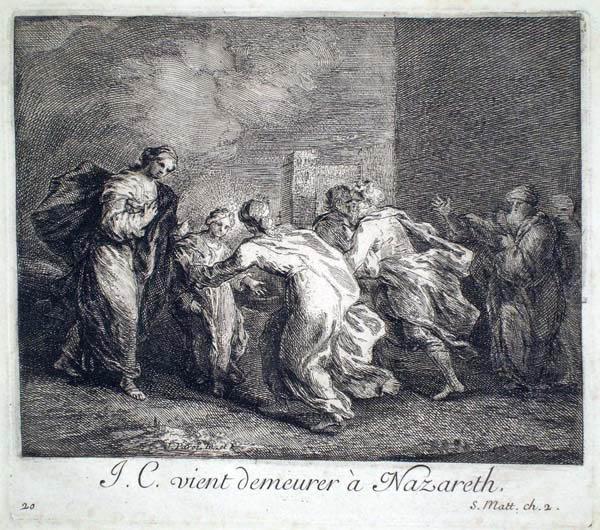 Joseph PARROCEL (Francia, 1646 – 1704) – J. C. VIENT DEMEURER À NAZARETH
