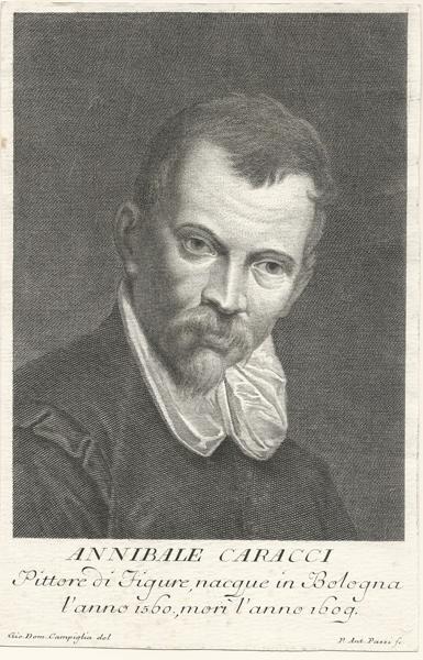 Pietro Antonio PAZZI (Firenze, 1706 – 1770) – ANNIBALE CARRACCI da G.D. Campiglia