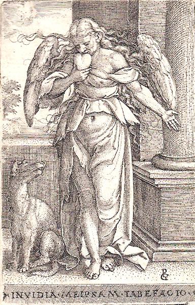 Georg PENCZ (Norimberga, 1500 – 1550) – INVIDIA