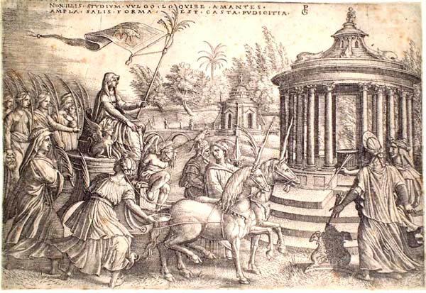 Georg PENCZ (Norimberga, 1500 – 1550) – IL TRIONFO DELLA CASTITÀ
