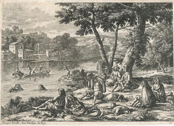 Gabriel PERELLE (Francia, 1603 – 1677) – IN RIVA AL FIUME