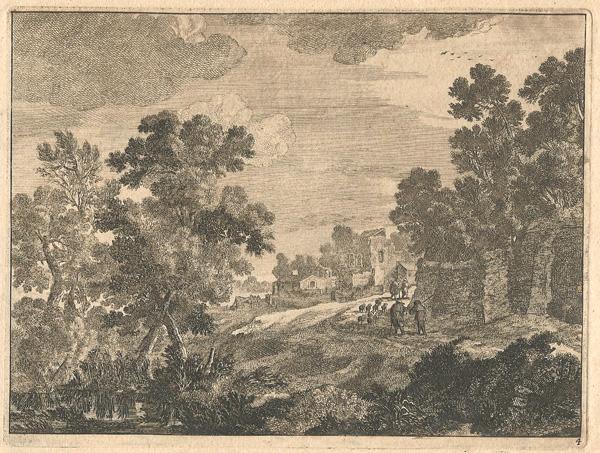 Adam PERELLE (Francia, 1638 – 1695) – PAESAGGIO