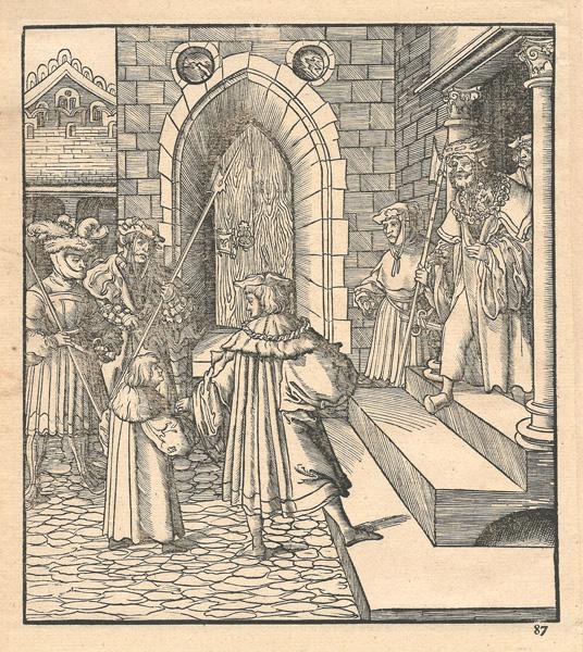 Leonhard BECK (Baviera, circa 1480 – 1542) – IL PARTITO MARRONE RAPISCE IL FIGLIO DEL RE BIANCO
