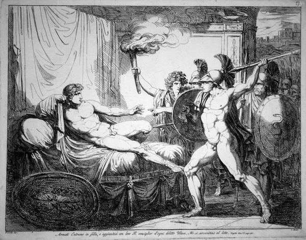 Bartolomeo PINELLI (Roma, 1781 – 1835) – ARMATI ENTRANO IN FOLLA, E AGGIUNTOVI CON LORO…
