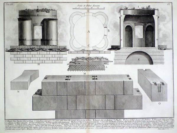 Giovambattista PIRANESI (Venezia, 1720 – 1778) – PIANTA DI UN SEPOLCRO FUORI DI PORTA SAN SEBASTIANO