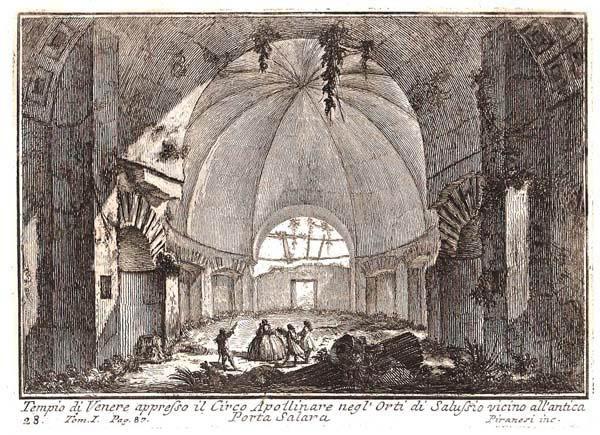 Giovambattista PIRANESI (Venezia, 1720 – 1778) – TEMPIO DI VENERE APPRESSO IL CIRCO APOLLINARE NEGL'ORTI DI SALUSSIO VICINO…
