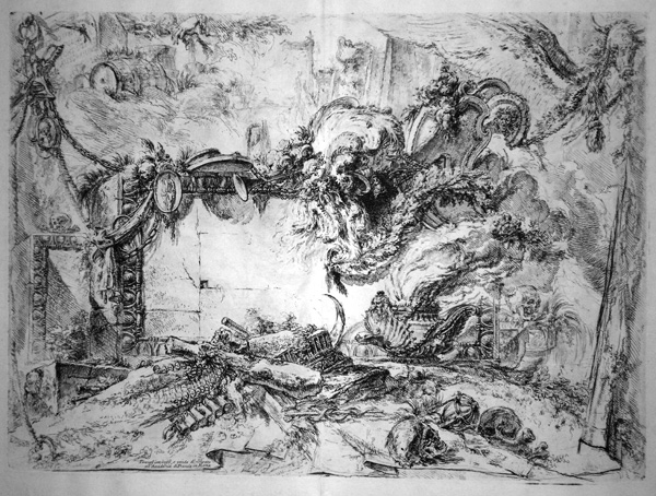 Giovambattista PIRANESI (Venezia, 1720 – 1778) – LASTRA MONUMENTALE