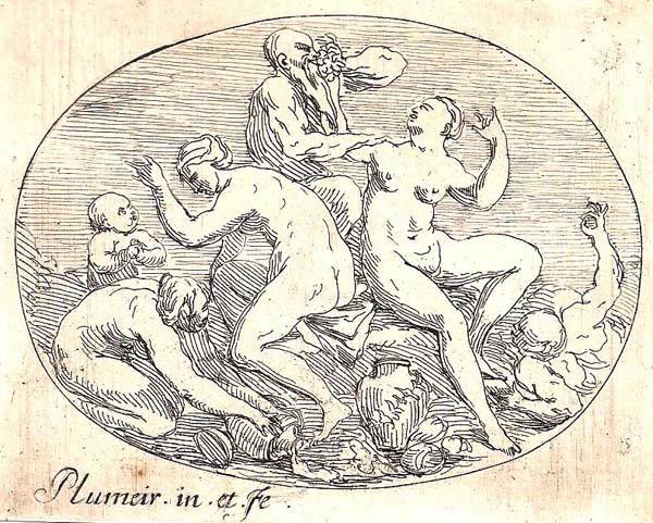 Pierre Denis PLUMIER (Olanda, 1688 – 1721) – SCENA MITOLOGICA